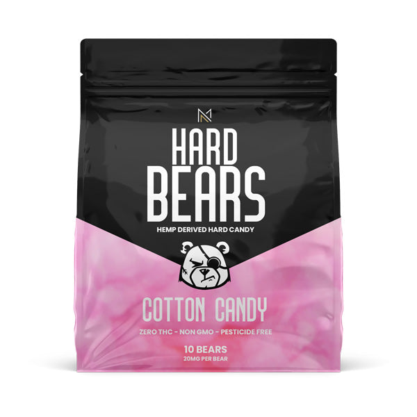 HARD BEARS - Hemp Derived Candy - Cotton Candy - Medicated Nation