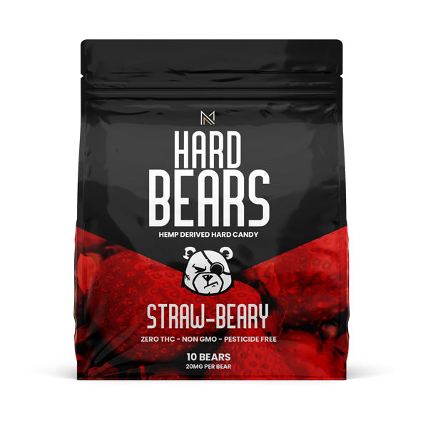 HARD BEARS - Hemp Derived Candy - Stawbeary - Medicated Nation
