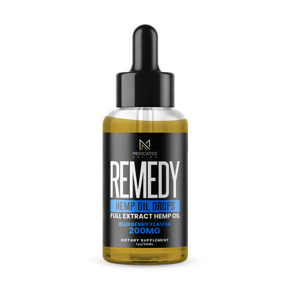 REMEDY - CBD Tincture - Blueberry - 200MG