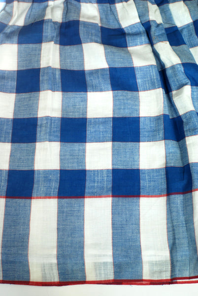 Khadi check dress