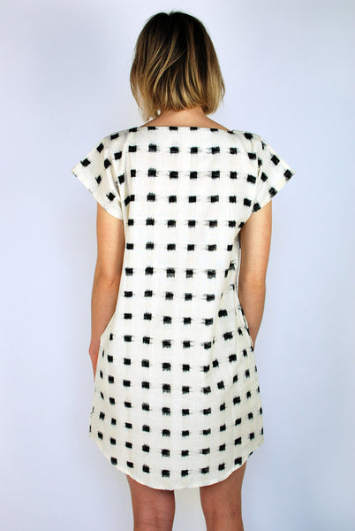 Ikat square dress