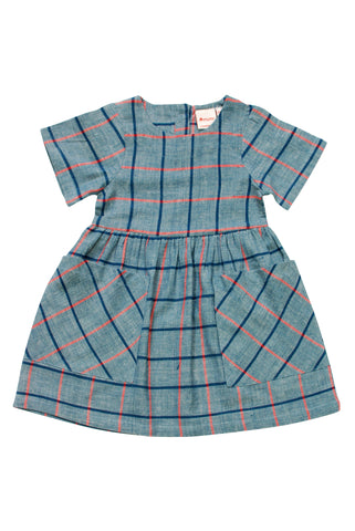Chambray grid dress