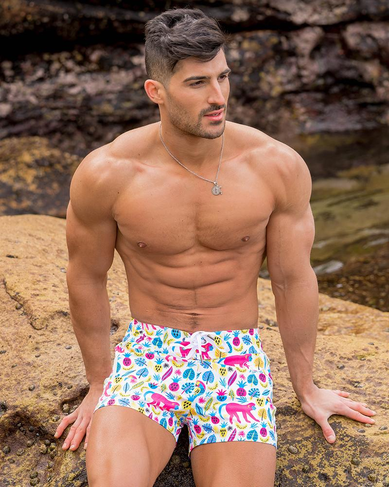 Monkey Business White Swim Shorts
