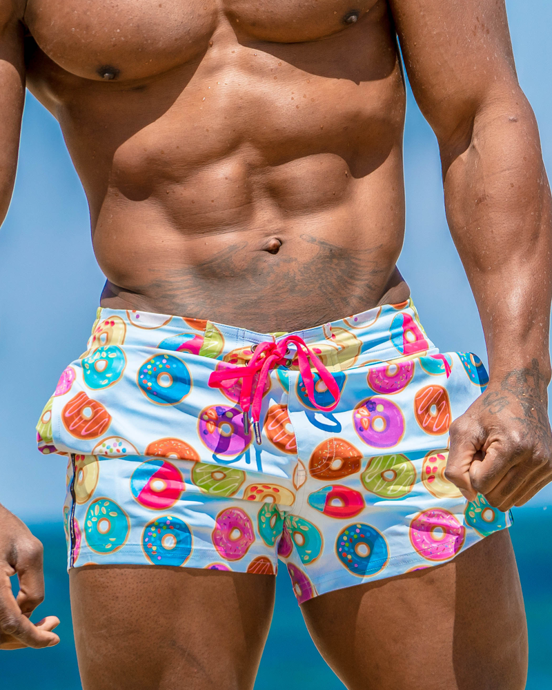 Doughnut Blue Swim Shorts