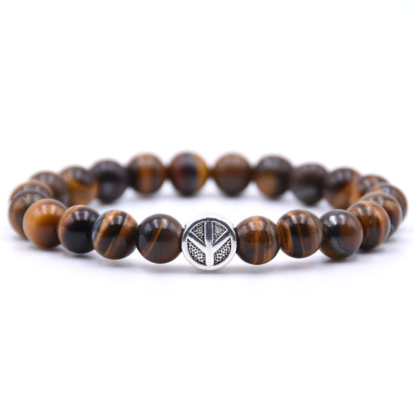Peace Sign Bracelet Brown