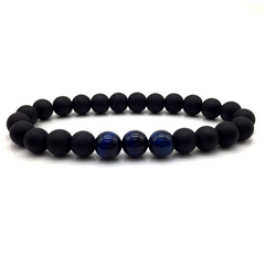 Natural Stones Beads  Bracelet Three Blue