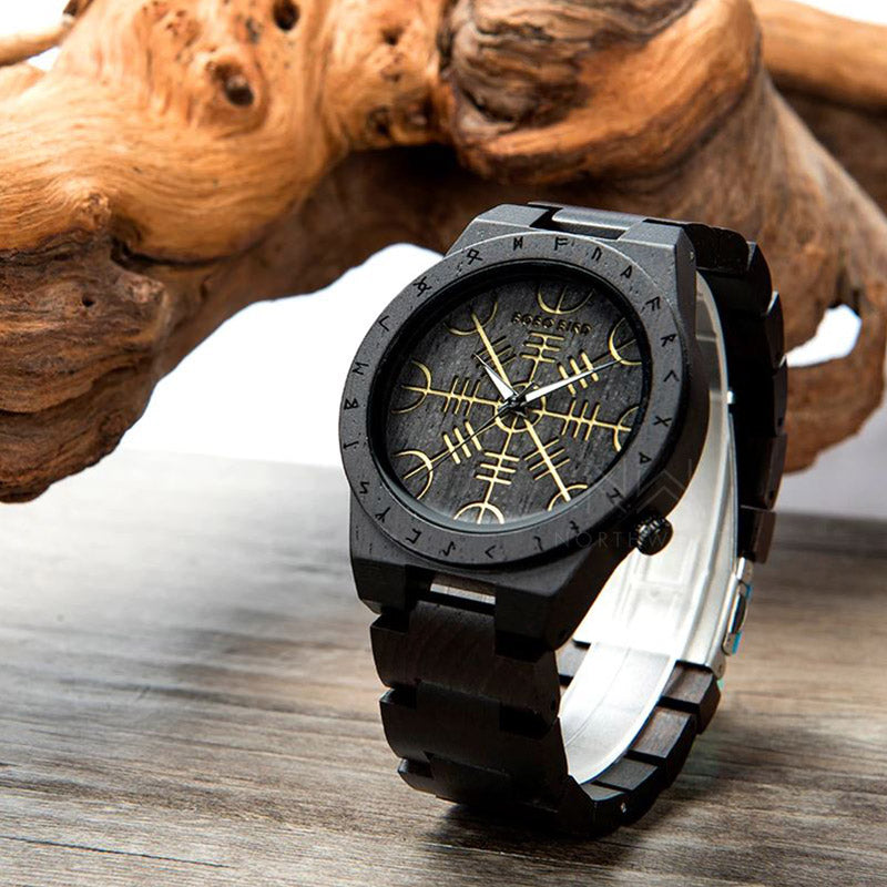 Aegishjalmur Wooden Watch