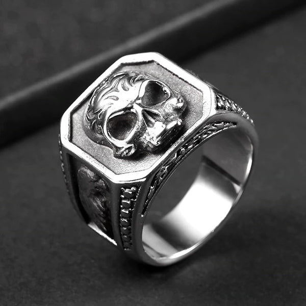Eagle Tribal Skull Ring