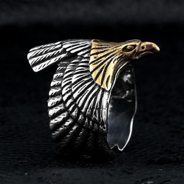 Ancient Eagle Ring Gold