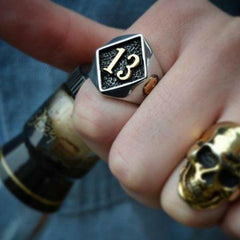 Thirteen Skull Ring