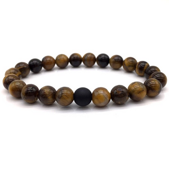Natural Stones Beads  Bracelet One Matt