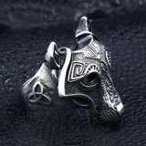 Viking Wolf Ring Silver