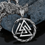 Valknut Serpent Necklace