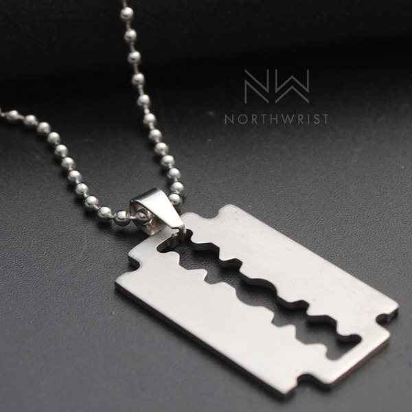 Punk Rock Razor Necklace