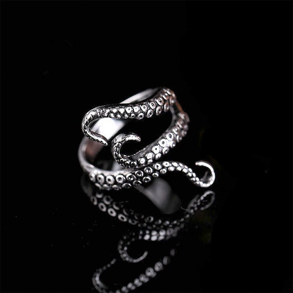 Silver Octopus Ring