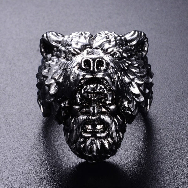 Berserker Viking Ring Silver