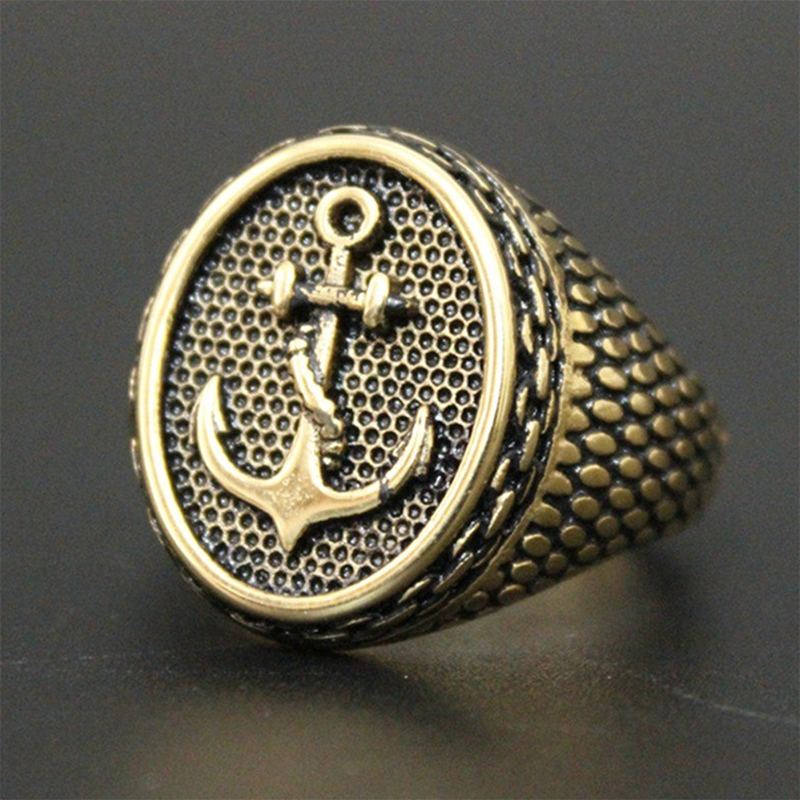 Straight Anchor Ring Gold