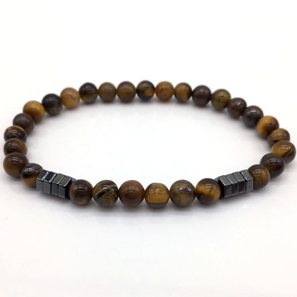 Polygonal Beads Bracelet Brown
