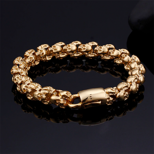 Skulls Underworld Bracelet Gold