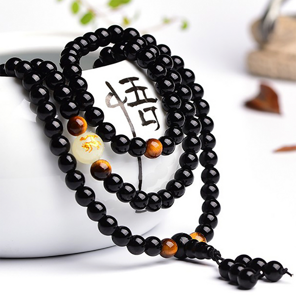 Dragon Black Buddha Beads Bracelet