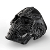 Alien Skull Ring  Black