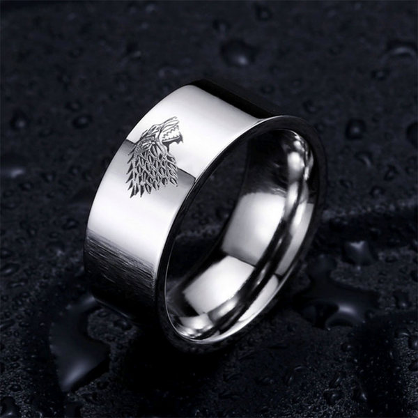 Ice Wolf Ring Silver