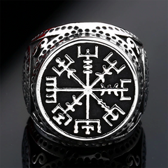 Vegvisir Shield Ring