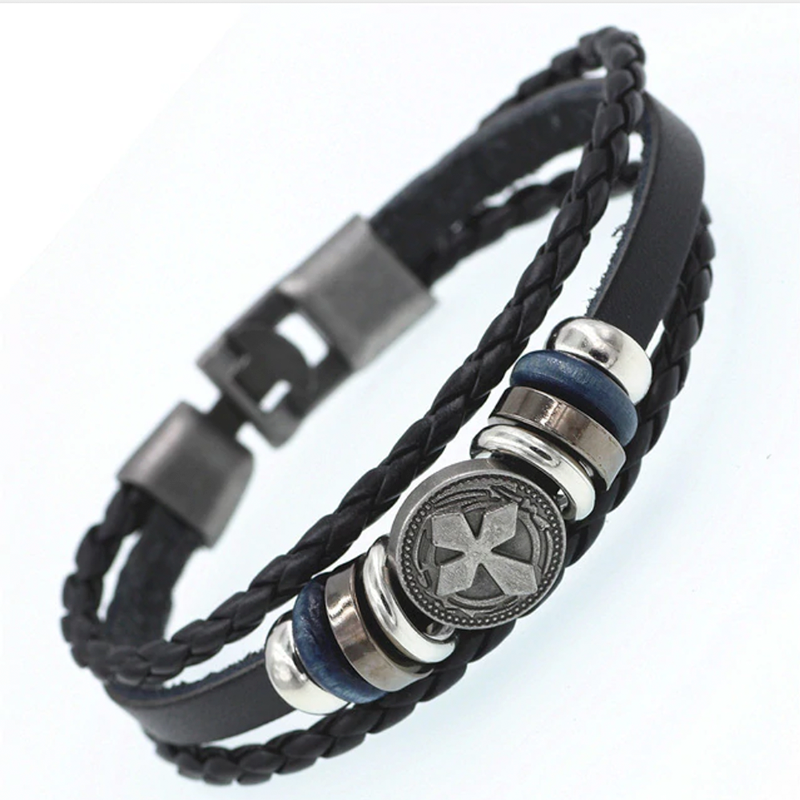 Multilayer Casual Leather Bracelet Angular