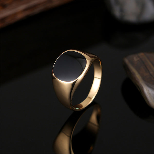 Plain Stone Ring Gold
