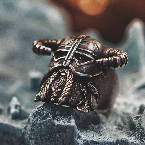 Helmet Of Berserker Viking Ring