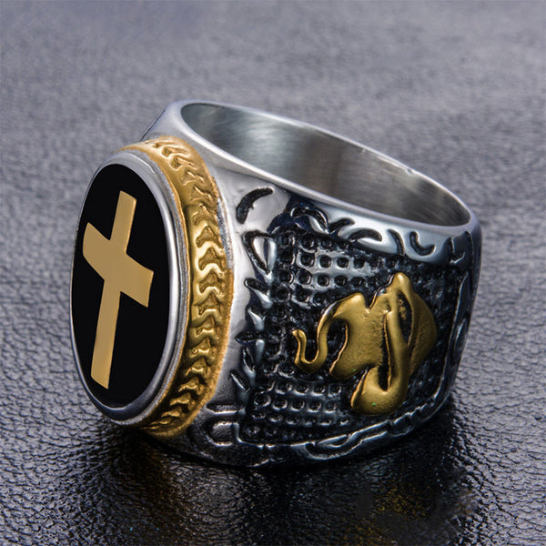 Knight of The Crusade Cross Ring Gold