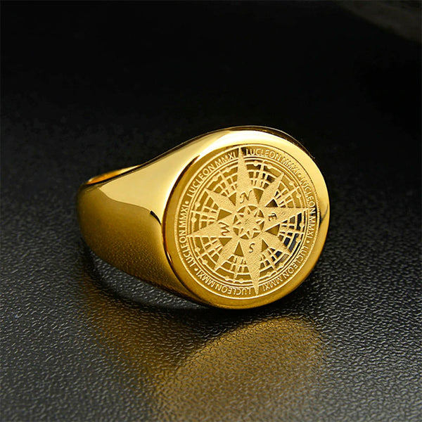 Lucleon Compass Ring Gold