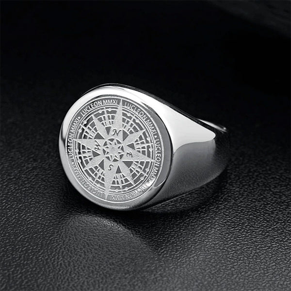 Lucleon Compass Ring Silver