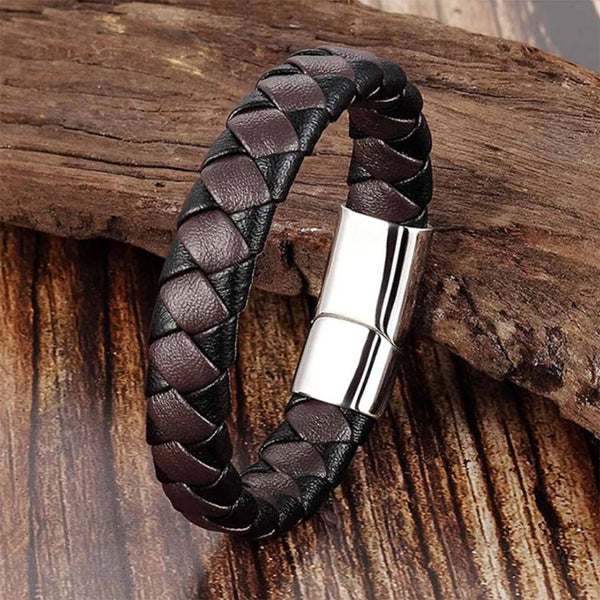 Two-Color Braided Bracelet Silver