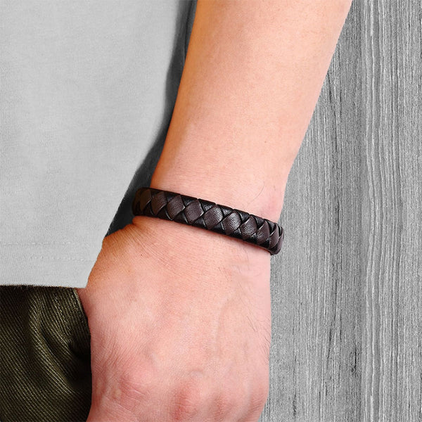 Two-Color Braided Bracelet Black