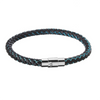 Scales Braid Leather Bracelet Blue