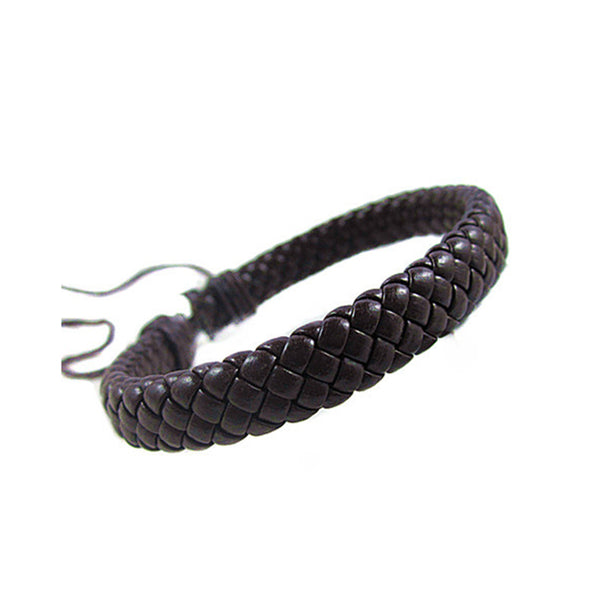 Traced Leather Bracelet Brown