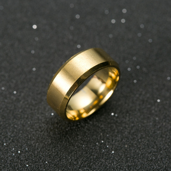 Polished Titanium Ring Gold