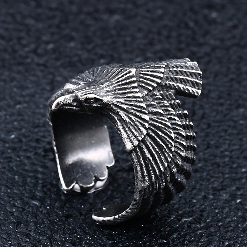 Ancient Eagle Ring Silver