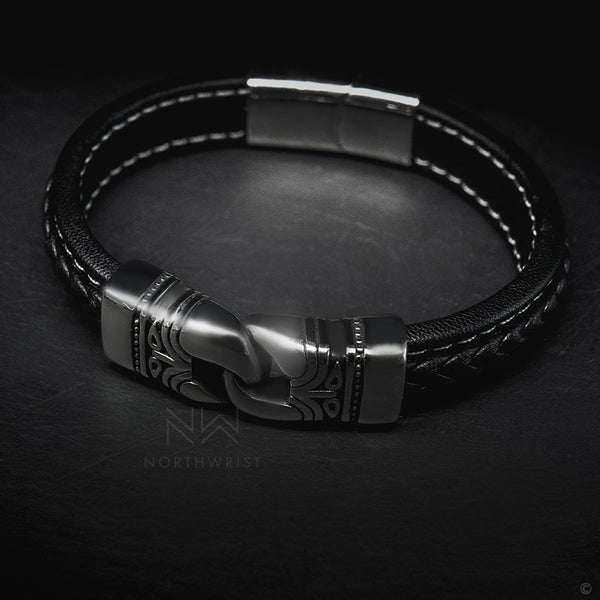 Aztec Leather Bracelet