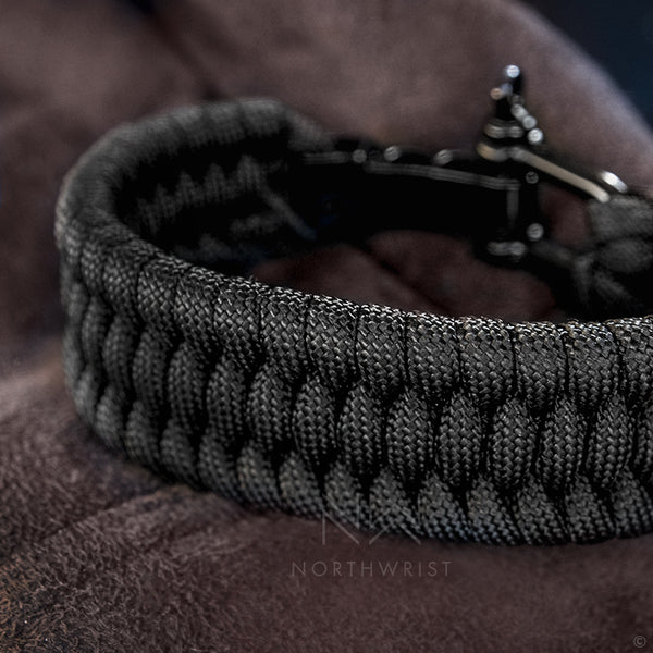 Braided Survival Bracelet Black