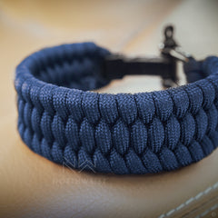 Braided Survival Bracelet Dark Blue