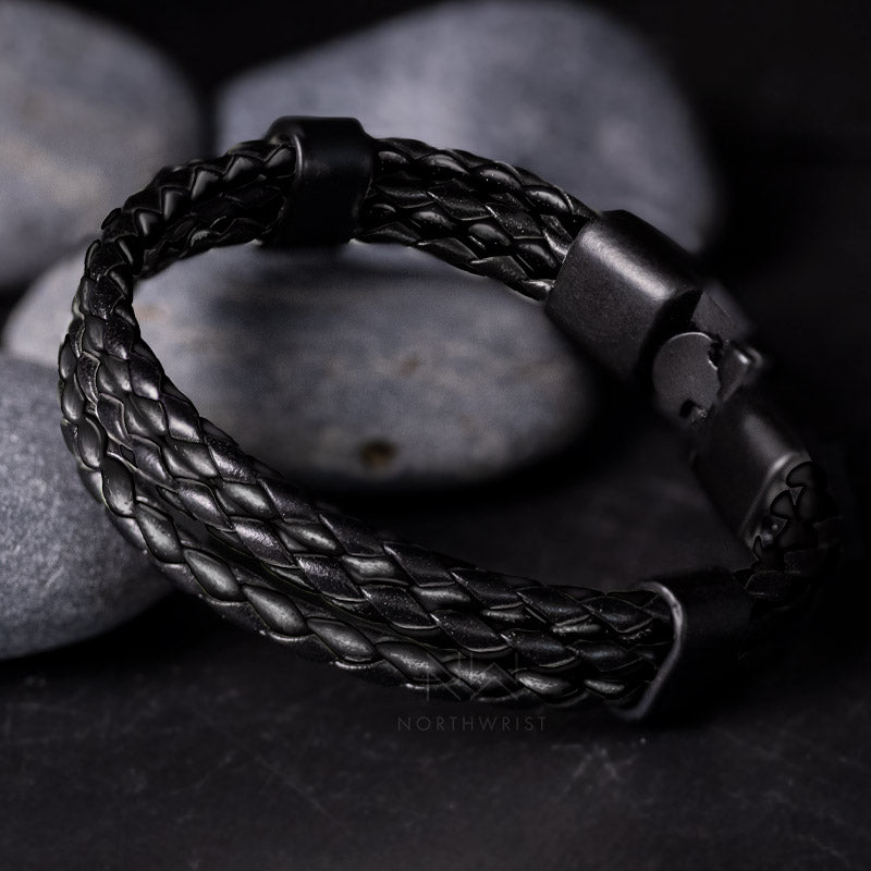 Braided Trio Bracelet Black