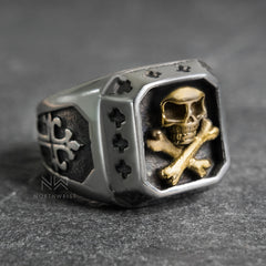Pirate's Flag Ring Gold