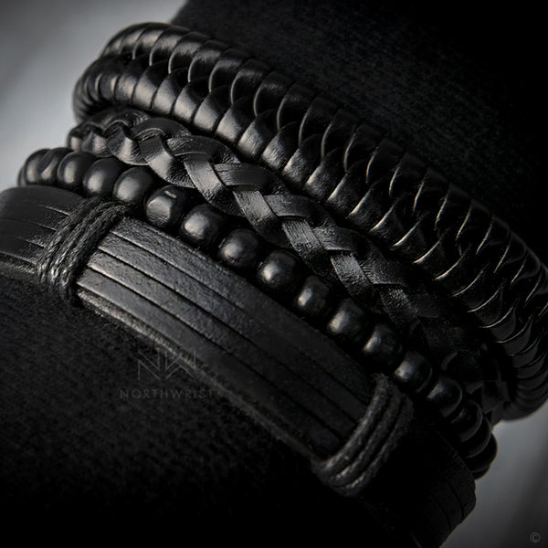 Plaited Leather Bracelet Set