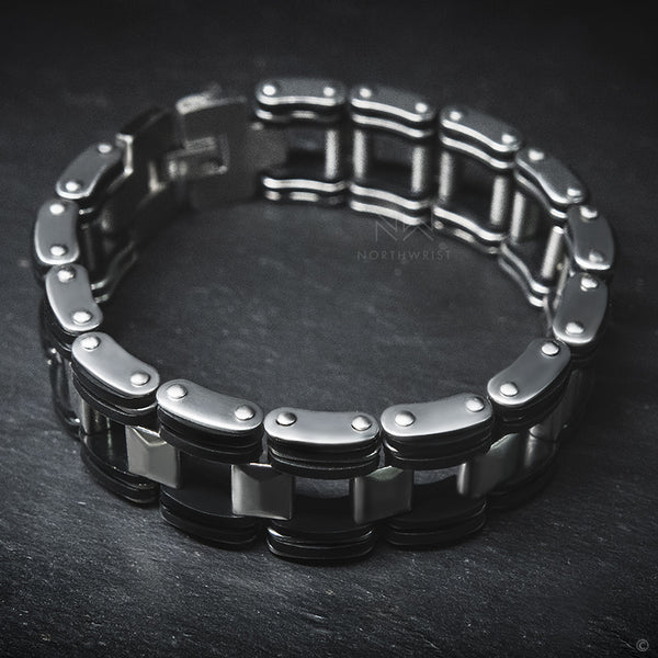 Silicone Steel Chain Bracelet