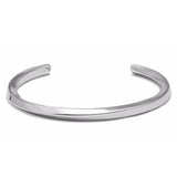 Twisted Lines Bangle Bracelet Silver
