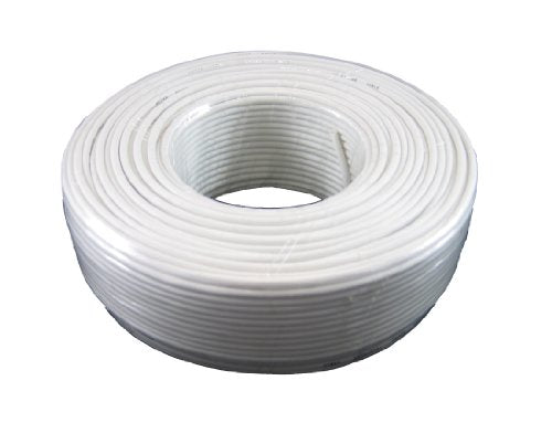 Phone Cable 300ft Rounded White Roll (100 M - 328 ft) 4X1/0.4 Reel Round Telephone Long Cord