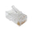 Crimp Connector 8P8C RJ45 CAT5 CAT5E Ethernet Network Cable Plug Crimp Jack (100 Pack Bag)