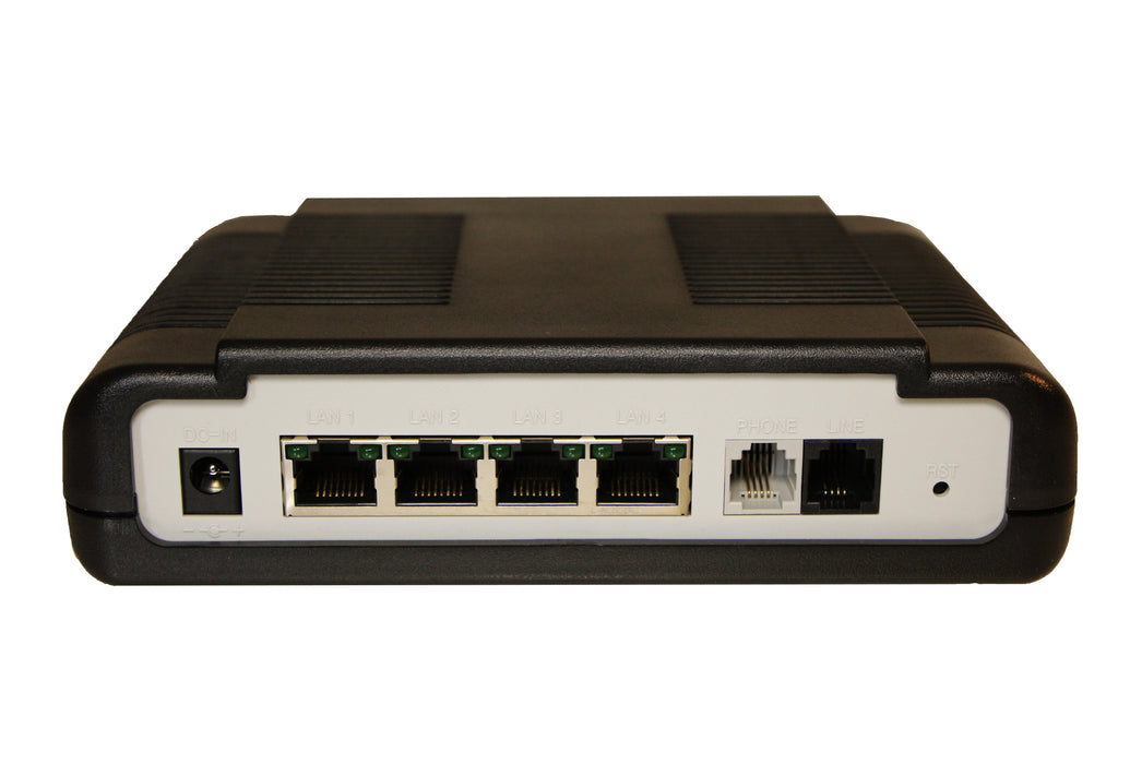Ethernet Extender 4-Port VDSL-2 Router 100Mbps - up to 1 Mile Over Phone Wire - Modem, Network Repeater